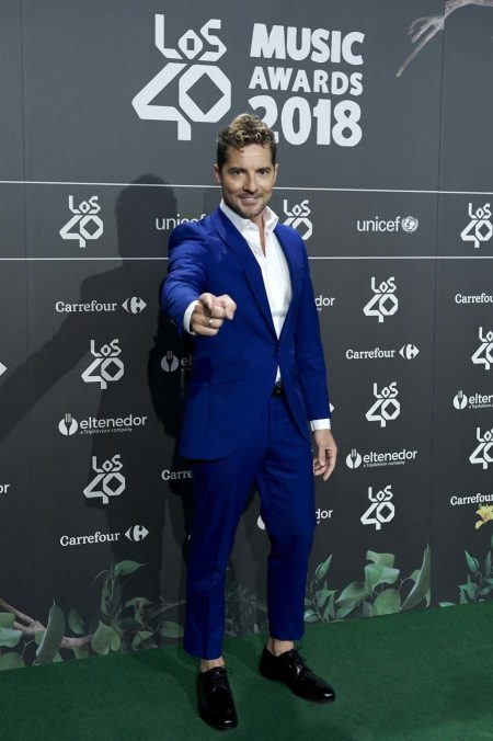 MADRID, SPAIN - SEPTEMBER 13: Singer David Bisbal attends the '40 Principales' awards nominated dinner at the Florida Park Club on September 13, 2018 in Madrid, Spain. (Photo by Carlos Alvarez/Getty Images)